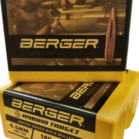 Berger Hybrid Target rifle Ammunition 6.5 creedmoor